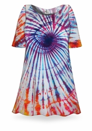 SALE! Sun Rays Swirl Tie Dye Plus Size & Supersize X-Long T-Shirt 0x 1x 2x 3x 4x 5x 6x 7x 8x