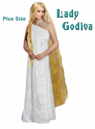SALE! Lady Godiva Plus Size Supersize Costume Lg XL 0x 1x 2x 3x 4x 5x 6x 7x 8x 9x