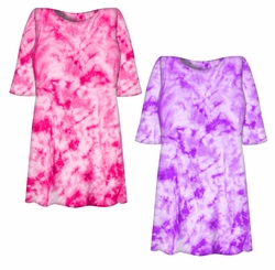 SALE! Lollipop Pink or Purple Tie Dye Plus Size T-Shirt XL 2XL 3XL 4XL 5XL 6XL