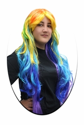 SALE! Colorful Long Side Bangs Rainbow Cosplay Wig