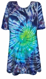 SALE! Midnight Aurora Tie Dye Long Plus Size T-Shirt L XL 2x 3x 4x 5x 6x