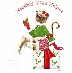 SALE! Naughty Little Helper Plus Size & Supersize T-Shirts S M L XL 2x 3x 4x 5x 6x 7x 8x (Lights Only)
