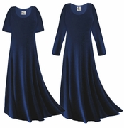 CLEARANCE! Navy Blue Slinky Plus Size & Supersize Dress 0x