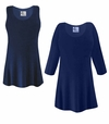 FINAL CLEARANCE SALE! Plus Size Navy Blue Slinky Top 1x 2x 3x