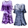 SALE! Purple or Navy Marble or Swirl Plus Size & Supersize X-Long Tie Dye T-Shirt 0x 1x 2x 3x 4x 5x 6x 7x 8x
