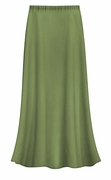 CLEARANCE! Plus Size Solid Olive Green Color Slinky Skirt 1x 2x