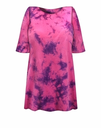 SALE! Pink & Purple Marble Tie Dye Plus Size T-Shirt L XL 2x 3x 4x 5x 6x