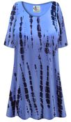 CLEARANCE! Plus Size El Camino Print Extra Long Rayon/Cotton T-Shirts 2x