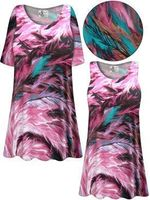 SOLD OUT! Plus Size Feather Dance SLINKY Print Short or Long Sleeve Shirts - Tunics - Tank Tops 9x