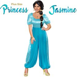 SALE! Plus Size Princess Jasmine from Aladdin Halloween Costume Lg XL 1x 2x 3x 4x 5x 6x 7x 8x 9x