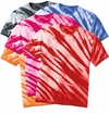 FINAL CLEARANCE SALE! Plus Size Short Sleeve Lines Tie Dye T-Shirts 2XL 3XL 4XL