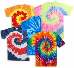 FINAL CLEARANCE SALE! Plus Size Short Sleeve Swirl Tie Dye T-Shirts 3XL