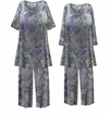 SOLD OUT! Plus Size Soft Purple Gray Abstract Print 2 Piece Pajama Pant Set 1x