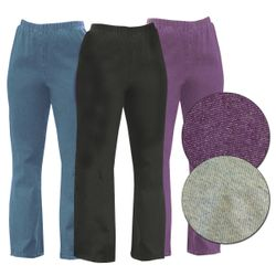 CLEARANCE! Plus Size & Supersize Stretchy Cotton-Lycra Mock Denim Pants 4x 7x