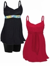 SOLD OUT! Plus Size Empire Waist Babydoll Swim Tank Tops