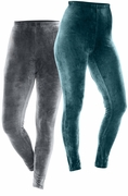 NEW! Plus Size Teal or Charcoal Stretch Velour Leggings 3x 4x