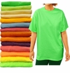 SALE! Plus Size Unisex Green Yellow Blue Red Rust Plum Pink or Orange Short Sleeve T-Shirt L XL 2XL 3XL 4XL 5XL