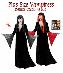 SALE! Plus Size Vampiress Morticia Costume Vampire Costume - Plus Size & Supersizes Lg XL 0x 1x 2x 3x 4x 5x 6x 7x 8x 9x