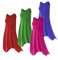 CLEARANCE! Plus Size Solid Color Poly/Cotton Jersey Swimsuit Cover Up Dresses & Shirts 1x 4x