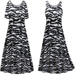 CLEARANCE! Plus Size Zebra Print Princess Cut Poly/Cotton Jersey Dress 1x 2x