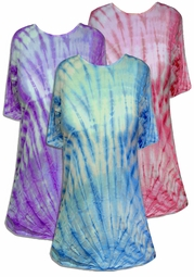 SALE! Gravity Swirl Blue Purple or Pink Plus Size & Supersize X-Long Tie Dye T-Shirt 0x 1x 2x 3x 4x 5x 6x 7x 8x