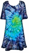SALE! Midnight Aurora Tie Dye Plus Size & Supersize X-Long T-Shirt 0x 1x 2x 3x 4x 5x 6x 7x 8x