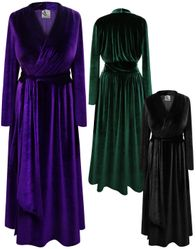 NEW! Plus Size Yummy Soft Velvet Robe with Attached Belt - Many Colors! Plus & Supersize 0x 1x 2x 3x 4x 5x 6x 7x 8x 9x