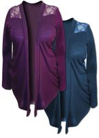 SOLD OUT!!!!!!!!!!! SALE! Purple or Teal Lace Jersey Plus Size Jackets 2x 3x