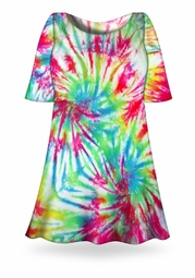 SALE! Double Rainbow Tie Dye Plus Size & Supersize X-Long T-Shirt 0x 1x 2x 3x 4x 5x 6x 7x 8x