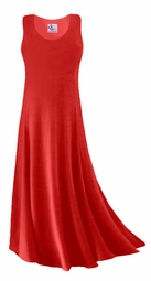 SOLD OUT! Red Slinky Plus Size & Supersize Tank Dress