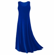 CLEARANCE! Plus Size Royal Blue Slinky or Cotton Tank Dress 1x 8x