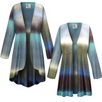 SOLD OUT! CLEARANCE! Tide Glimmer Slinky Print Plus Size & Supersize Jackets & Dusters - Size 4x