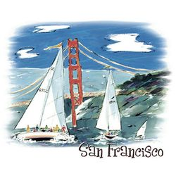 SALE! San Francisco Bridge And Sails Plus Size & Supersize T-Shirts S M L XL 2xl 3xl 4x 5x 6x 7x 8x (Lights Only)