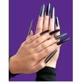 SALE! Set of 10 Long Black Fingernails