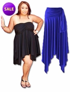 FINAL CLEARANCE SALE! Sexy Slinky & Cotton Handkerchief  High-Low Dresses Tops & Skirts! Plus Size & Supersize 2x