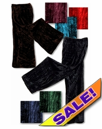CLEARANCE! Shimmering Crush Panne Velvet Petite or Tall Customizable Plus Size & Supersize Tapered Pants 0x 2x