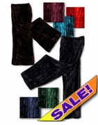 CLEARANCE! Shimmering Crush Panne Velvet Petite or Tall Customizable Plus Size & Supersize Tapered Pants 0x 7x