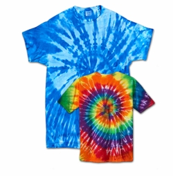 SALE! Short Sleeve Swirl Tie Dye Plus Size & Supersize X-Long T-Shirt 0x 1x 2x 3x 4x 5x 6x 7x 8x