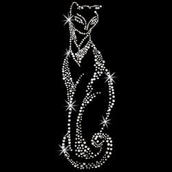 SALE! Silver Cat Rhinestud Rhinestones Plus Size & Supersize T-Shirts S M L XL 2x 3x 4x 5x 6x 7x 8x 9x (All Colors)