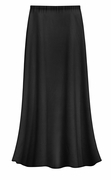 FINAL CLEARANCE SALE! Plus Size Solid Black Color Slinky or Spandex Skirt 0x 1x 2x 3x 4x