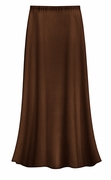 CLEARANCE! Solid Brown Color Slinky or Ottoman Plus Size Supersize Skirt 0x 1x