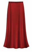 FINAL CLEARANCE SALE! Plus Size Solid Burgundy Red Color Slinky Skirt 0x 2x 3x