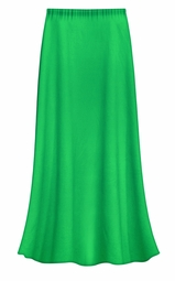 FINAL CLEARANCE SALE! Solid Grass Green Color Slinky Plus Size Supersize Skirt 0x 1x 4x