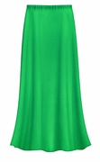 FINAL CLEARANCE SALE! Solid Grass Green Color Slinky Plus Size Supersize Skirt 0x