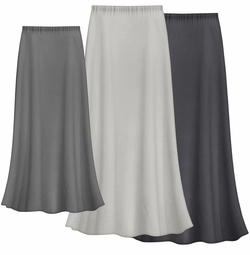 CLEARANCE! Solid Gray Color Slinky Plus Size Supersize Skirt  XL  0x 1x 4x