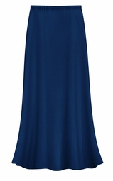 FINAL CLEARANCE SALE! Plus Size Solid Navy Color Slinky Skirt 0x 1x
