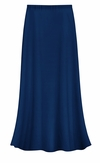 FINAL CLEARANCE SALE! Plus Size Solid Navy Color Slinky Skirt 0x 1x 7x