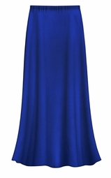 SOLD OUT! Solid Royal Blue Color Slinky Plus Size Supersize Skirt