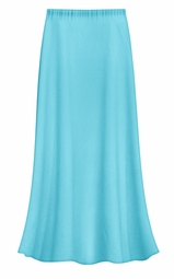 SOLD OUT! FINAL CLEARANCE SALE! Solid Turquoise Color Slinky Plus Size Supersize Skirt 1x