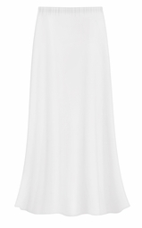 SOLD OUT! Plus Size Solid White Color Slinky Skirt